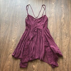 Free People Strappy Front Fit & Flare Slip